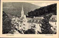 Postcard Schlangenbad im Rheingau Taunus Kreis, Victoria Hotel