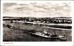 Postcard Neuwied in Rheinland Pfalz, Rheinpartie, Salondampfer, Blick auf den Ort