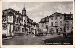 Postcard Ilmenau im Ilm Kreis Thüringen, Blick auf den Marktplatz, Eingang