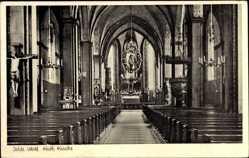Postcard Oelde im Kreis Warendorf im Münsterland, Innenansicht der Kath. Kirche