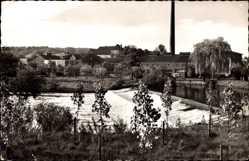 Postcard Bork Selm in Westfalen, Lippepartie, Wehr, Schornstein, Häuser