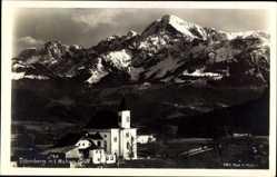 Postcard Ettenberg Marktschellenberg, Blick auf Kirche, Hoher Göll, Gebirge