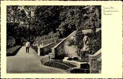 Postcard Neuss in Nordrhein Westfalen, Blick auf den Heinzelmännchen Brunnen