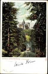Postcard Königswinter im Rhein Sieg Kreis, Schloss Drachenburg mit Zahnradbahn