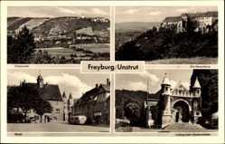 Postcard Freyburg an der Unstrut, Neuenburg, Ludwig Jahn Gedenkstätte, Markt