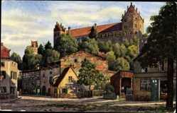 Künstler Ak Marschall, V., Füssen im schwäbischen Kreis Ostallgäu, Stadtmauer