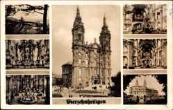 Postcard Bad Staffelstein am Main Oberfranken, Kirche Vierzehnheiligen, Innenansicht