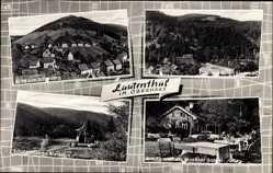Postcard Lautental Langelsheim am Harz, Waldgaststätte Maaßner Gaipel, Schutzhütte