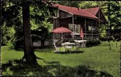 Postcard Nonnenbach Blankenheim an der Ahr, Waldcafe Pension Maus, Garten