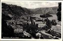 Postcard Bacharach am Rhein im Kreis Mainz Bingen, Blick auf den Ort von Süden
