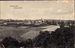Postcard Zeulenroda Triebes Thüringen, Totalansicht der Ortschaft, Felder