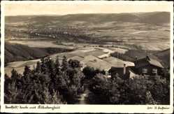 Postcard Saalfeld an der Saale Thüringen, Panorama mit Kulmberghaus