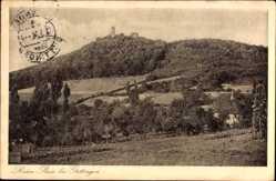 Postcard Göttingen in Niedersachsen, Burgruine Plesse, Panorama