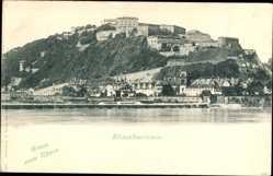 Postcard Koblenz in Rheinland Pfalz, Ehrenbreitstein, Flussblick