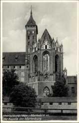 Ak Malbork Marienburg Westpreußen, Marienbild an der Kapelle