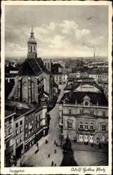 Postcard Opava Troppau Reg. Mährisch Schlesien, Adolf Hitler Platz, Markt