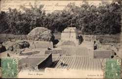 Ak Tonkin Vietnam, Fours à Briques, Ziegelöfen, Ziegelsteinherstellung