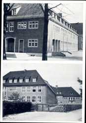 Postcard Greven in Nordrhein Westfalen, Blick auf die Martini Schule, Eingang