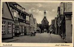 Postcard Quakenbrück in Niedersachsen, Adolf Hitler Straße, Tor, Hotel Karlem
