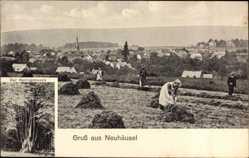 Postcard Neuhäusel Rheinland Pfalz, Der Herzogsbusch, Frauen bei der Feldarbeit