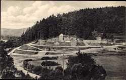Postcard Würgendorf Burbach in Westfalen, Blick auf das Kriegerdenkmal