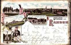 Litho Rahden in Ostwestfalen Lippe, Gut, Mühlen, Bäuerin, Hotel Wolter, Post
