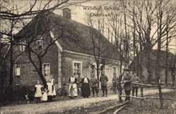 Postcard Oldenkott Vreden, Blick auf die Wirtschaft Göring, Fahrräder, Kinder