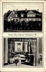 Postcard Winterberg im Hochsauerlandkreis, Blick auf Pension Haus Nuhnetal, Inneres