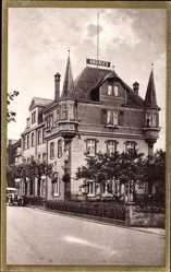 Postcard Bullay an der Mosel, Straßenpartie mit Blick auf Hotel Andries, Weinhandlung