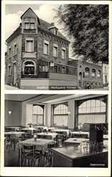 Postcard Poltersdorf Ellenz Mosel, Gasthof Pension Metzgerei Haus Könen, Gastzimmer