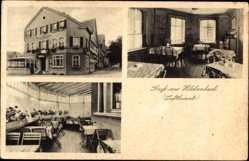 Postcard Hilchenbach im Kreis Siegen Wittgenstein, Gasthof Karl Menn, Erich Menn