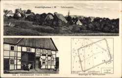 Postcard Kneblinghausen Rüthen im Kreis Soest, Gastwirtschaft Schäfer, Römerlager