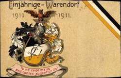 Studentika Litho Warendorf in Nordrhein Westfalen, Tu ne cede malis, 1910