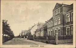 Postcard Warendorf in Nordrhein Westfalen, Brede, Straßenpartie, Gebäude