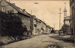 Postcard Weisel Rheinland Pfalz, Straßenpartie, Kirchturm, Gebäude