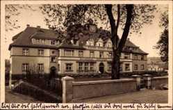 Postcard Wechselburg Mulde Landkreis Mittelsachsen, Ratskeller, Spar und Girokasse