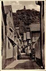 Postcard Braunbach am Rhein, Partie in der Sommergasse, Berg, Turm