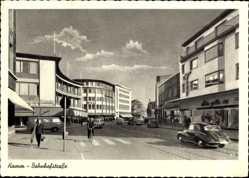 Postcard Hamm in Westfalen, Blick in die Bahnhofstraße, Verkehr