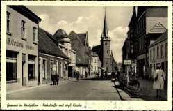 Postcard Gronau im Münsterland Westfalen, Neustraße mit Blick auf evangelische Kirche