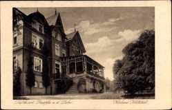 Postcard Bad Laasphe im Kreis Siegen Wittgenstein, Kurhaus Kohlstädt, Seitenansicht