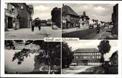 Ak Quickborn im Kreis Pinneberg, Cafe, Prophetensee, Trumpf Schokoladefabrik