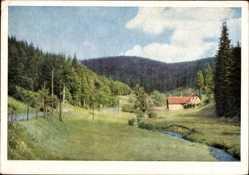 Postcard Fehrenbach Masserberg im Thüringer Schiefergebirge, Bibertal, Haus