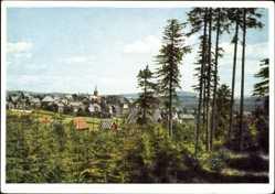 Postcard Masserberg im Thüringer Schiefergebirge, Blick auf den Ort
