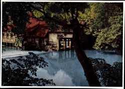 Postcard Blaubeuren Baden Württemberg, Blick auf die Karstquelle Blautopf