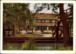 Postcard Lehde Lübbenau Spreewald, Blick auf Café Venedig, E. Togeretz