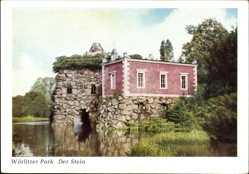 Postcard Oranienbaum Wörlitz im Kreis Wittenberg, Wörlitzer Park, der Stein