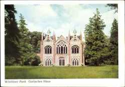 Postcard Oranienbaum Wörlitz im Kreis Wittenberg, Wörlitzer Park, Gotisches Haus