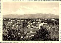 Postcard Rosenheim im Alpenvorland Oberbayern, Blick auf den Ort, Gebirge