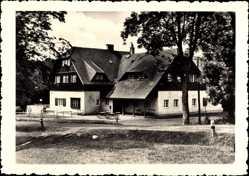 Postcard Jöhstadt im Erzgebirge Sachsen, Blick auf den Berghof, Erich Bohring