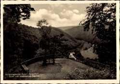Postcard Rengsdorf in Rheinland Pfalz, Blick vom Almblick ins Wiedtal